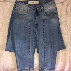 Denim Skinny Jeans. Light Wash. Hidden Jeans.